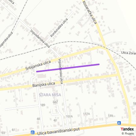 Шајкашка улица на Yandex мапи