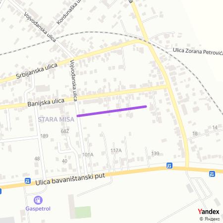 Панонска улица на Yandex мапи
