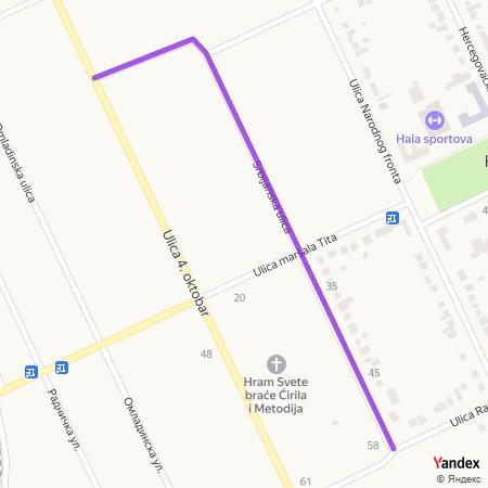 Србијанска улица на Yandex мапи