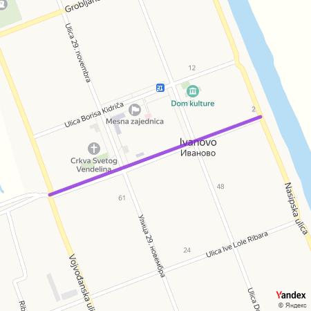 Улица Петефи Шандора на Yandex мапи