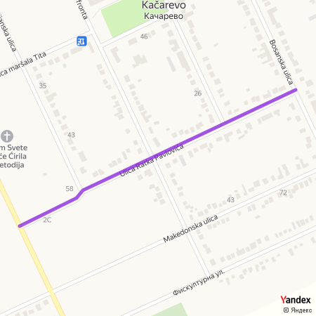 Улица Ратка Павловића на Yandex мапи