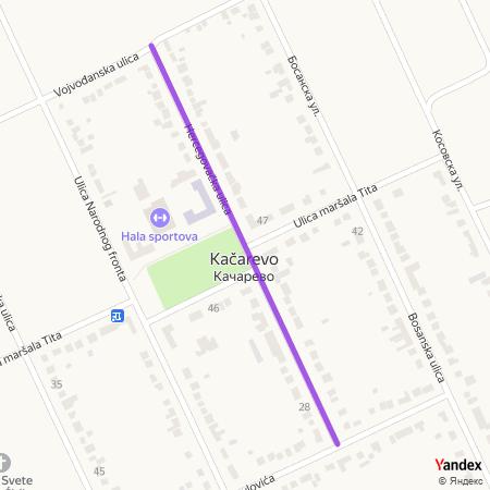 Херцеговачка улица на Yandex мапи
