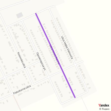 Улица Косте Рацина на Yandex мапи