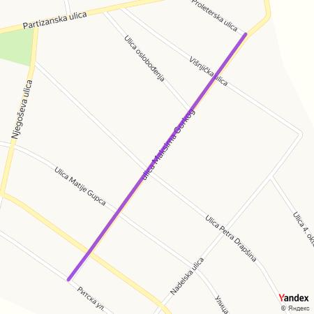 Улица Максима Горког на Yandex мапи