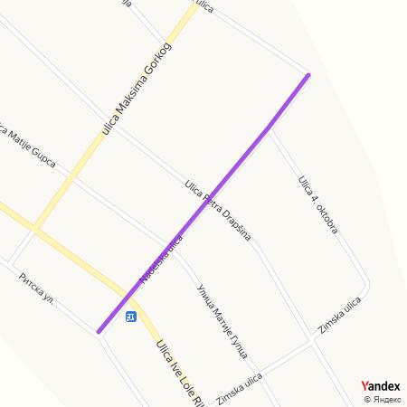Наделска улица на Yandex мапи