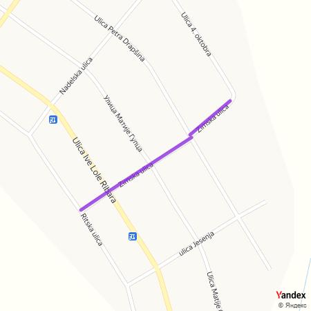 Зимска улица на Yandex мапи