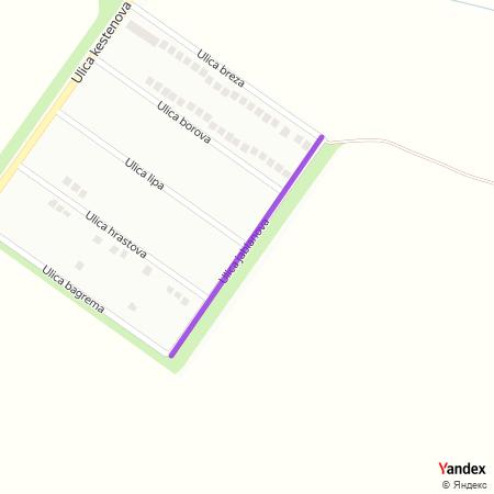 Улица јабланова на Yandex мапи