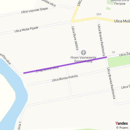 Змај Јовина улица на Yandex мапи