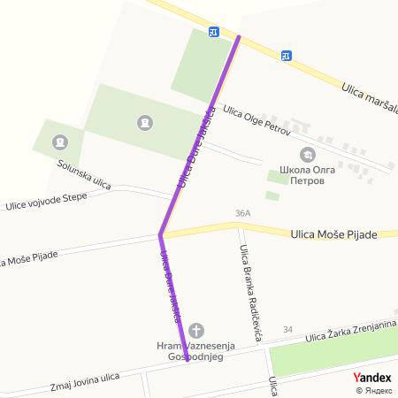 Улица Ђуре Јакшића на Yandex мапи