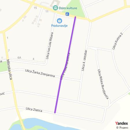 Улица Вука Караџића на Yandex мапи