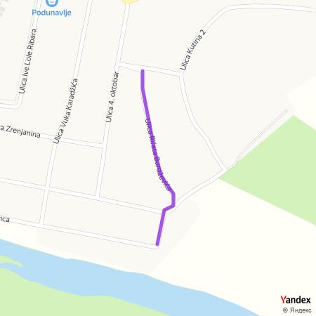 Улица Рифата Бурџевића на Yandex мапи