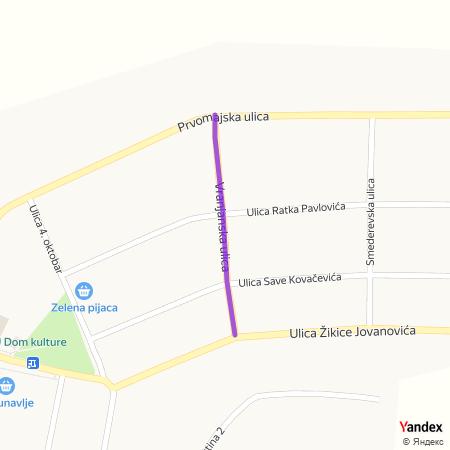 Врањанска улица на Yandex мапи