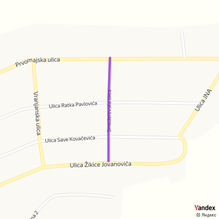 Смедеревска улица на Yandex мапи