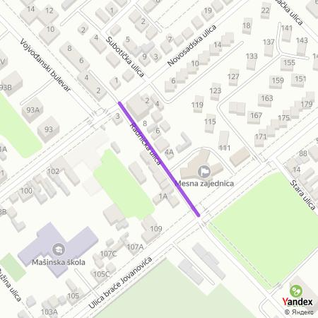 Радничка улица на Yandex мапи