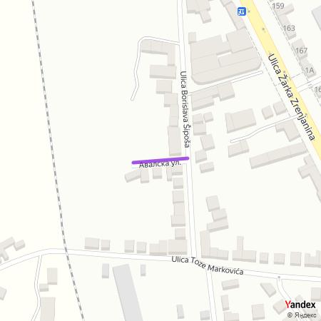 Авалска улица на Yandex мапи