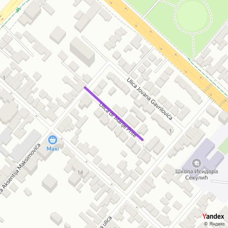 Улица др Марије Прите на Yandex мапи