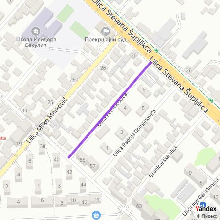 Улица Петра Кочића на Yandex мапи