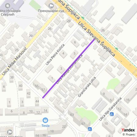 Улица Радоја Домановића на Yandex мапи