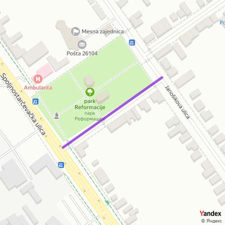 Трг 12. војвођанске бригаде на Yandex мапи