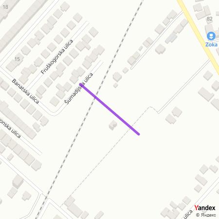 Барањска улица на Yandex мапи