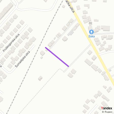 Дивчибарска улица на Yandex мапи