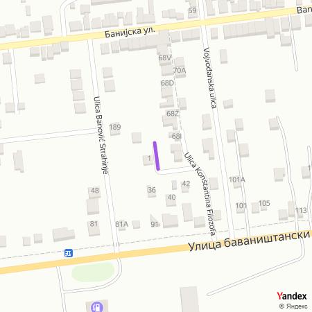 Метохијска улица на Yandex мапи