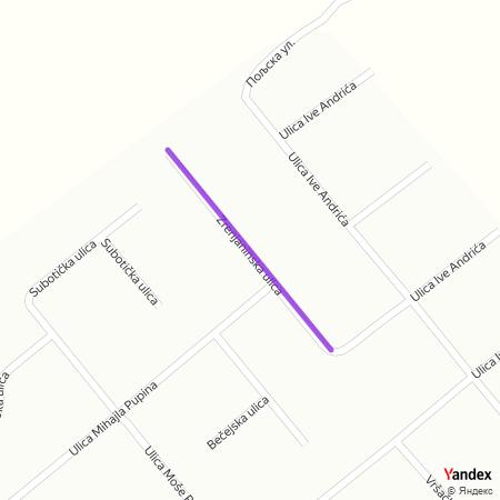 Зрењанинска улица на Yandex мапи