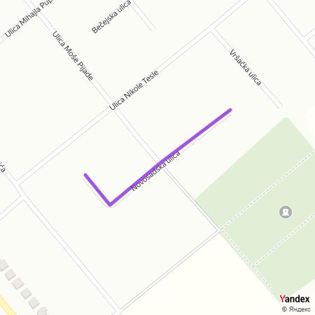 Новосадска улица на Yandex мапи