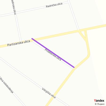 Пролетерска улица на Yandex мапи