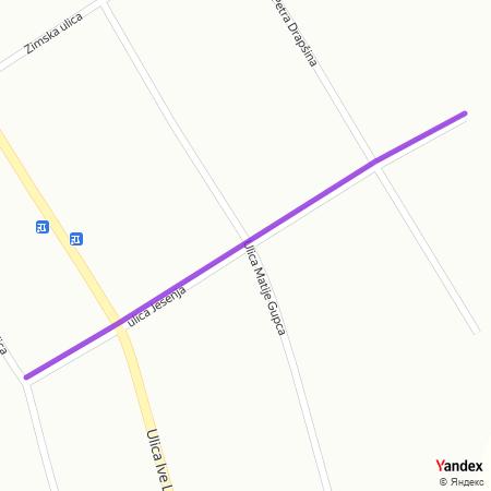 Јесења улица на Yandex мапи