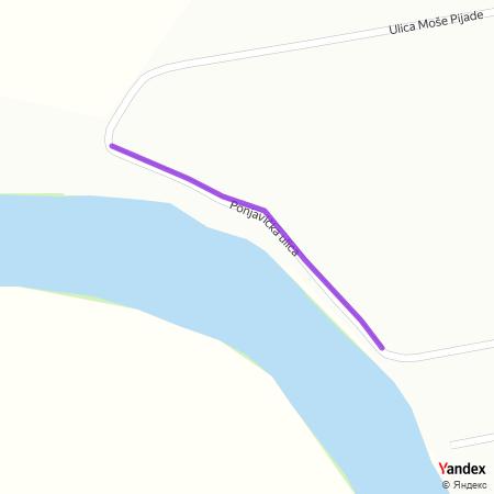 Поњавичка улица на Yandex мапи