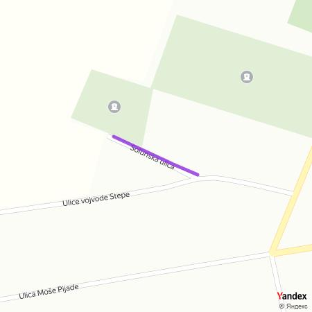 Солунска улица на Yandex мапи