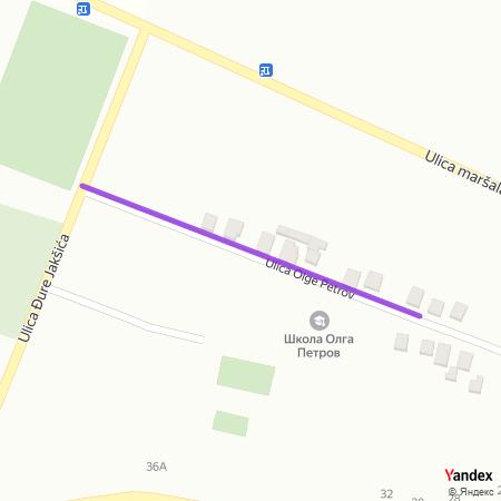 Улица Олге Петров на Yandex мапи