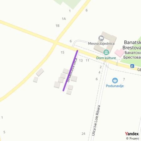 Синђелићева улица на Yandex мапи
