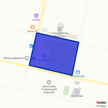Трг неолита на Yandex мапи