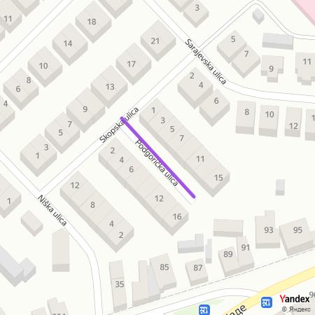 Подгоричка улица на Yandex мапи