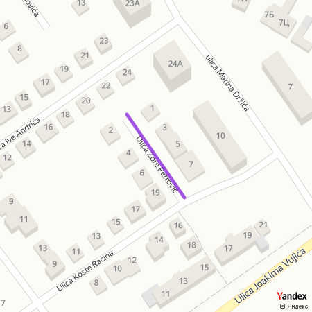 Улица Зоре Петровић на Yandex мапи