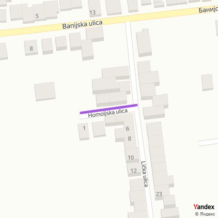 Хомољска улица на Yandex мапи