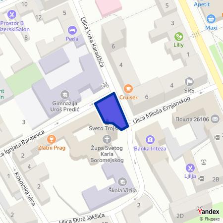 Гимназијски трг на Yandex мапи