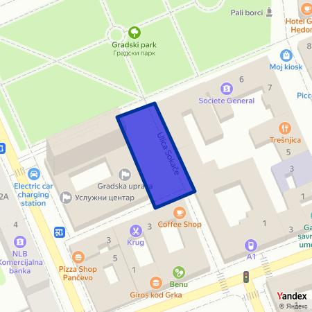 Плато испред Градске управе на Yandex мапи