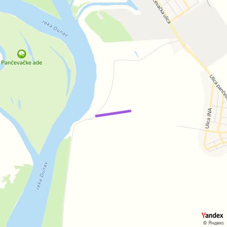 Улица банатских ветрењача на Yandex мапи