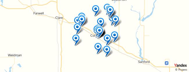 Coleman Michigan Map.Top Things To Do In Coleman Michigan Afabuloustrip