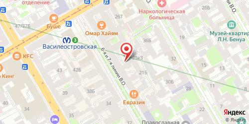 Кофейня / Кондитерская Black & White, Санкт-Петербург, 6-я линия В.О., д.25