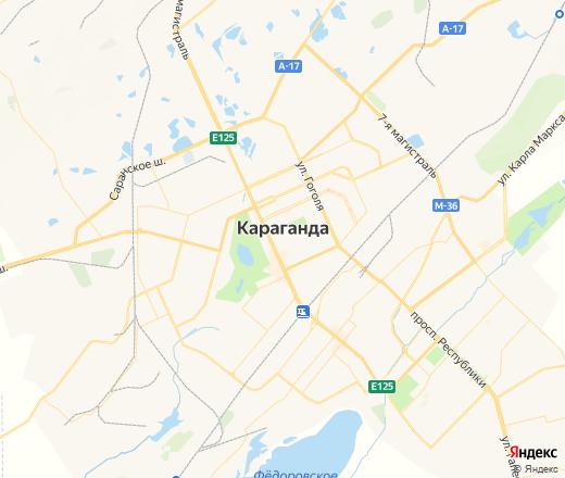 Картинка карты караганды