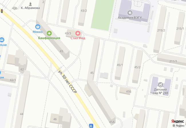 Карта объекта