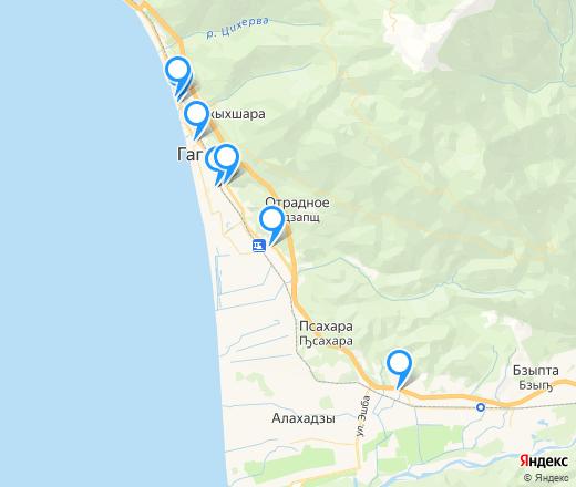 Банкоматы в Гагре, банкоматы рядом со мной на карте