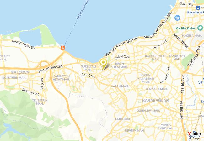 Özel İzmir Amerikan Koleji Lisesi Haritası
