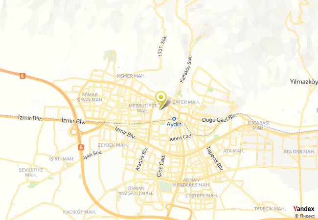 Aydın Cumhuriyet Anadolu Lisesi Haritası