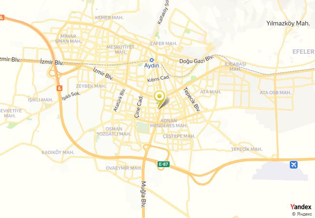 Aydın Anadolu İmam Hatip Lisesi Haritası