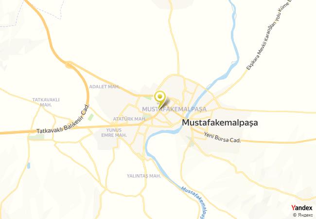 Mustafakemalpaşa Ortaokulu Haritası